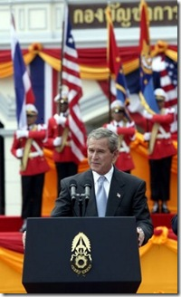 President Bush in Thailand, 2003